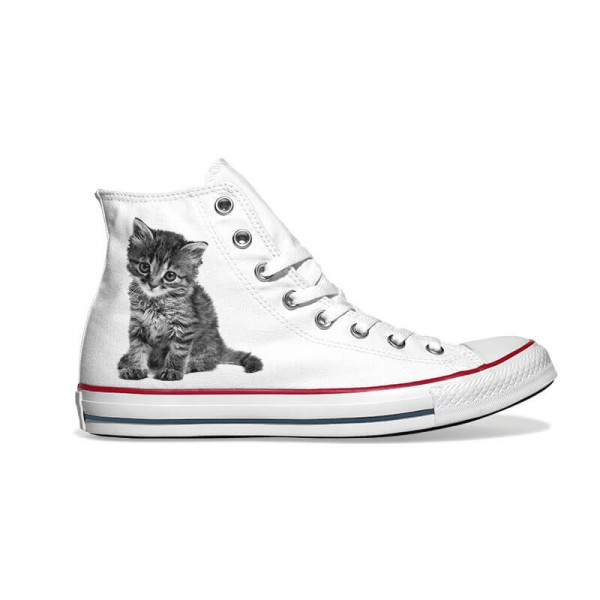 Personalisierbar mit deinem Haustier Bild in schwarz-weiß